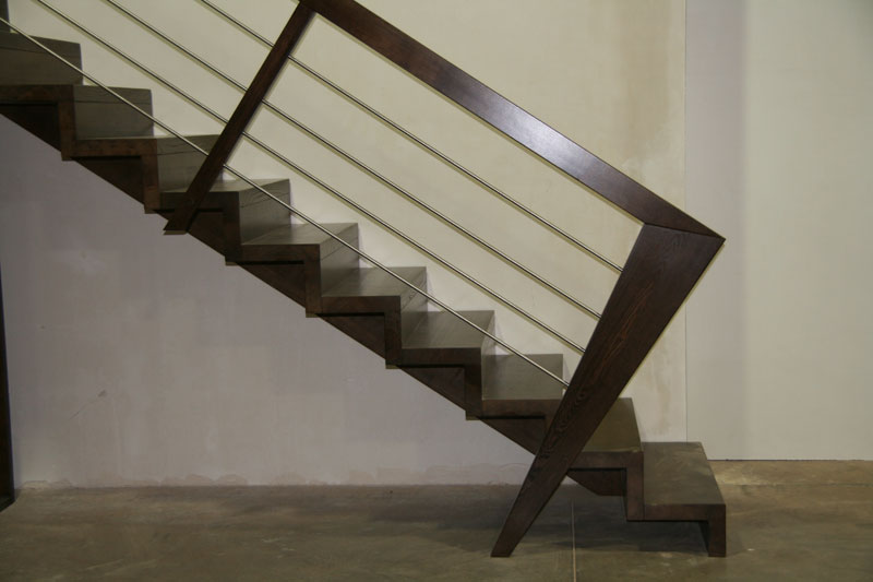 Conception fabrication et ralisation d 39 escaliers sur mesure vosges - Main courante bois lapeyre ...